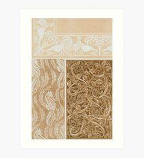Vintage Pattern Art Print