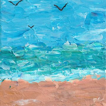 Textured Beach Painting by feeble-platypus
