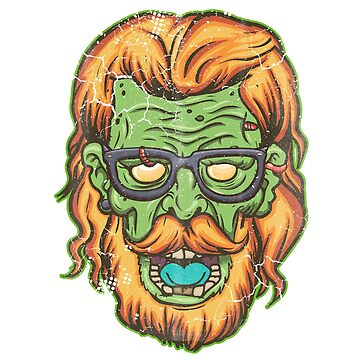 Halloween Zombie Hipster by frittata