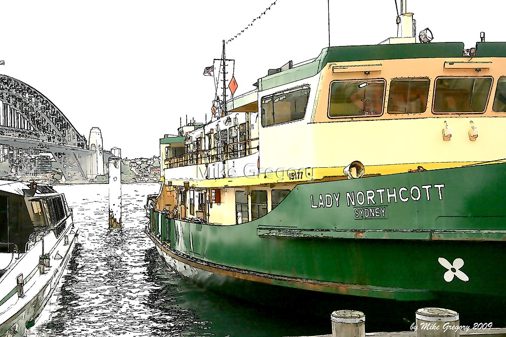 Lady Northcott Ferry at Circular Quay by Mike Gregory