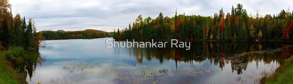 Fall Colors, Abanake Lake, NY by Shubhankar Ray