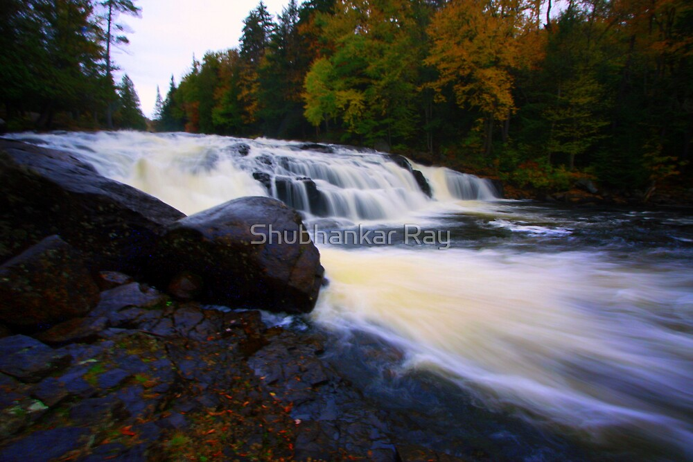 Fall Colors, Buttermilk Falls, Upstate NY by Shubhankar Ray