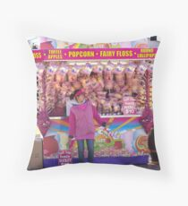 Fairy Floss Throw Pillow