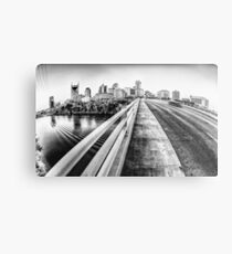 Road to Nashville in Black and White Metal Print
