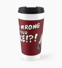 Mr. Plinkett - What's Wrong With Your Face - Red Background Wheelchair Travel Mug