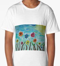 Flies hovering around Anemones  Long T-Shirt