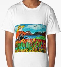 Watering the flowers Long T-Shirt