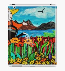Watering the flowers iPad Case/Skin