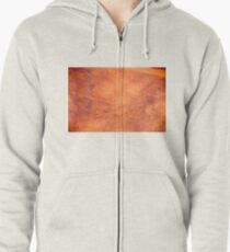 Red Earth Zipped Hoodie