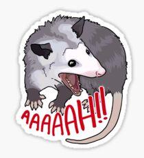 Possum scream at own ass Sticker