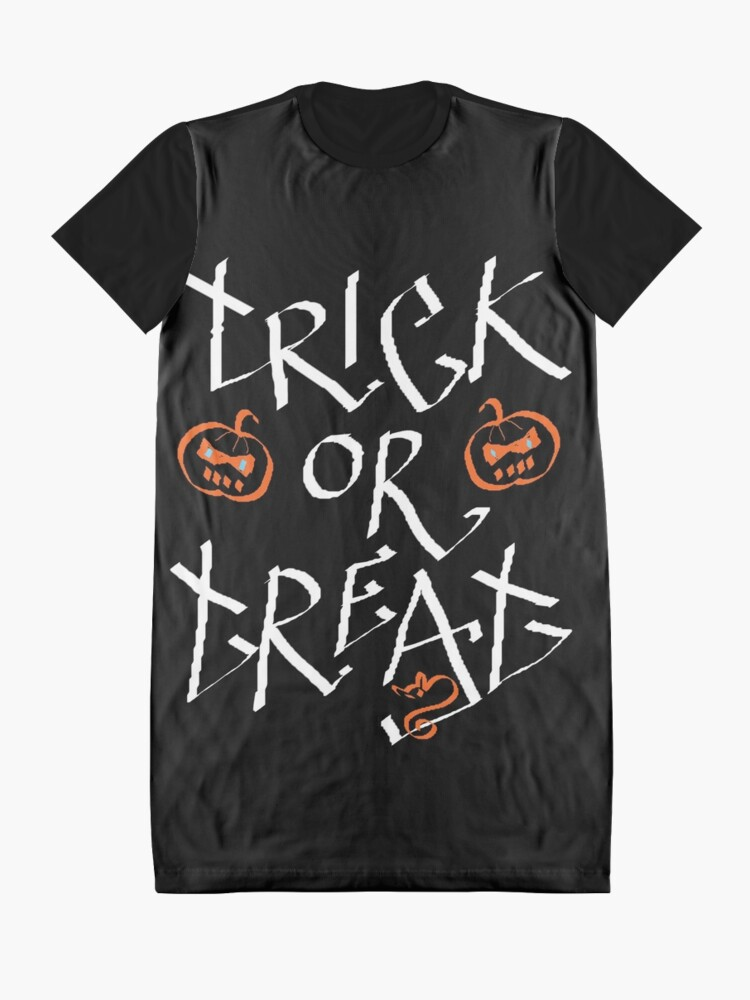 Alternate view of Trick or Treat pumpkin Graphic T-Shirt Dress
