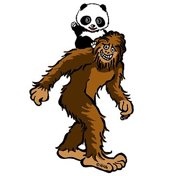 Gone Squatchin with Panda by NewSignCreation