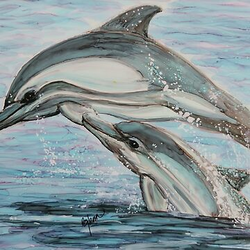 Dolphin Leap Lessons by GlennArt