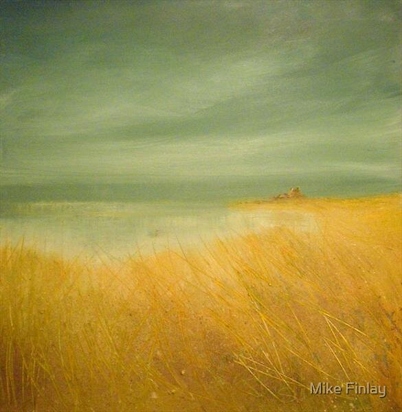 'Bamburgh Castle, hazy sun, one of the last hot days of summer'  by Mike Finlay