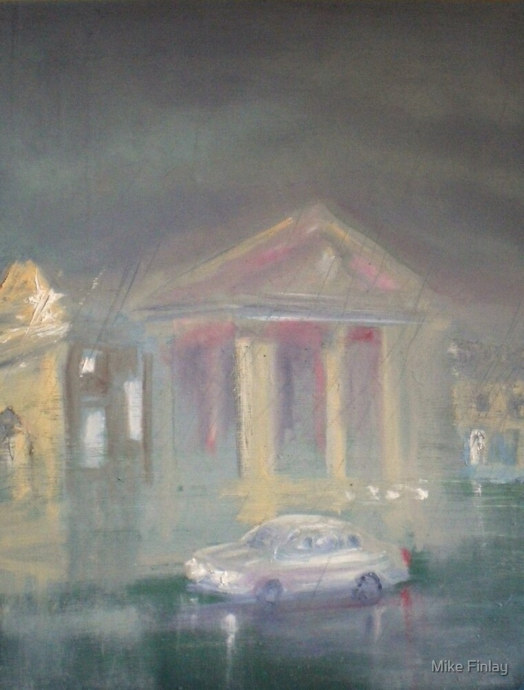 Theatre Royal, wet and cold evening - Newcastle by Mike Finlay
