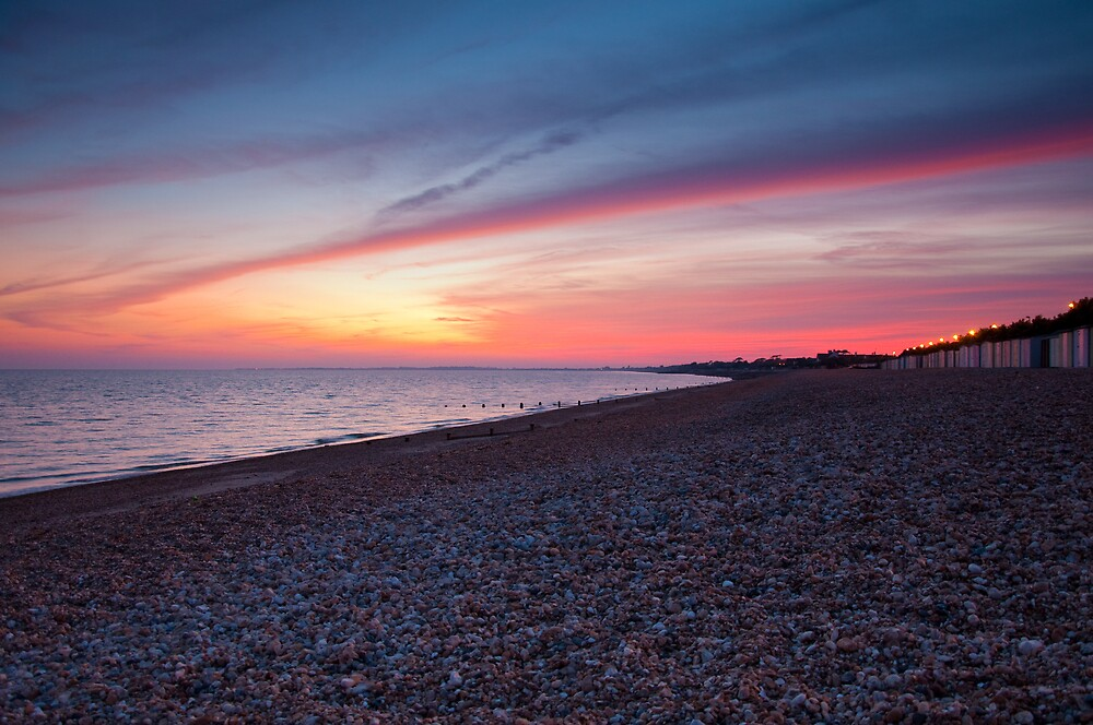 Bognor Beach at Sunset by joefish