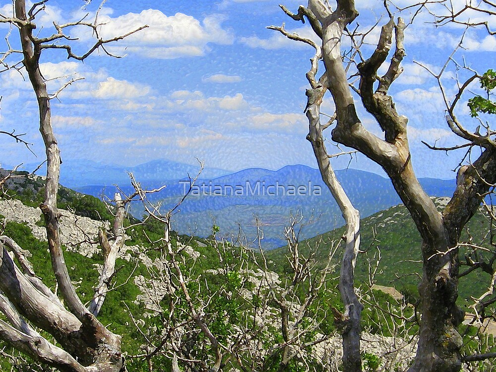 BLUE VIEW and THE OLD TREE by TatianaMichaela