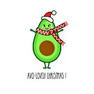 Avocado Christmas Illustration by Adam Regester