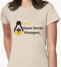 Linux Game Server Managers Logo Women's Fitted T-Shirt