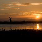 Windmill sunset! by Carole Stevens