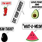 Cute Veggie And Fruit Stickers by Almdrs
