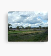 View From the Railmotor - 2 Canvas Print