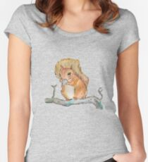 Squirrel nutkin Fitted Scoop T-Shirt