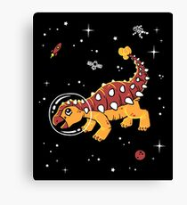 Ankylosaurus In Space T-Shirt - Cool Dinosaur Tee Canvas Print