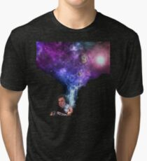 Elon Musk smoking outerspace weed Tri-blend T-Shirt