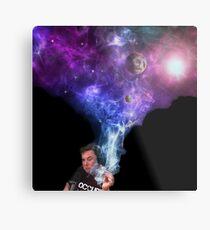 Elon Musk smoking outerspace weed Metal Print