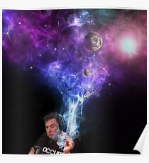 Elon Musk raucht Outerspace Weed Poster