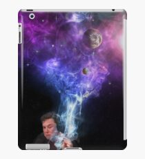 Elon Musk smoking outerspace weed iPad Case/Skin