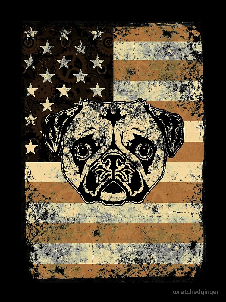 Stars and Stripes Pug by wretchedginger