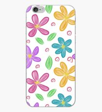 Colourful flowers and leaves iPhone Case