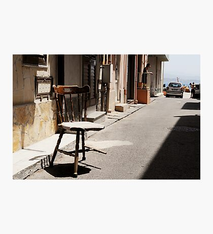 What Is It With Chairs And Sicilians Photographic Print