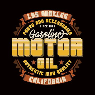 Retro Gasoline Garage Artwork by wearitout