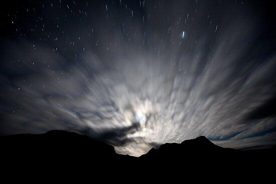 Moon Stream - Startrails version by Geoff  Coleman - Landscapes