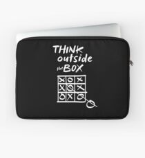 Think Outside the Box Tic Tac Toe Funny Playing Games Humor Gifts Laptop Sleeve