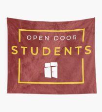 Open Door Students Burgandy Wall Tapestry