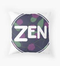Zen Flower Circle Simple Design Throw Pillow