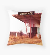 Colonial Drive In Theatre - Ticket Booth and Screen Throw Pillow