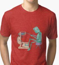 Spinning Robot Tri-blend T-Shirt