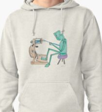 Spinning Robot Pullover Hoodie