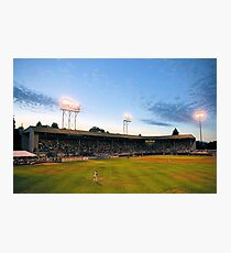 Civic Stadium sunset Photographic Print