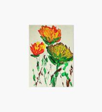 Tre Blomstrer Art Board