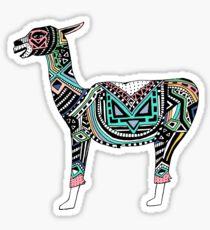 Peruvian Llama Hand-Drawn Sticker