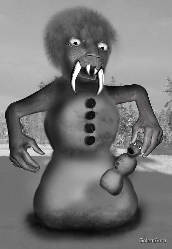 Snowman Monster by GolemAura