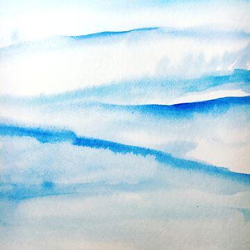 Snowy Hills and Soaring Skies by rosemaryann