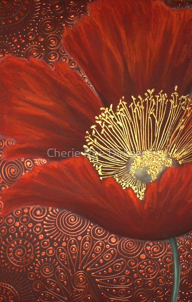 A Single Red Poppy by Cherie Roe Dirksen