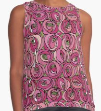 """Charles Rennie Mackintosh """"Roses and teardrops"""" edited 2. Contrast Tank"""